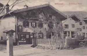 Germany Mittenwald am Isar Bemaltes Haus