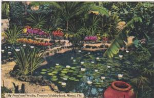 Florida Miami Lily Pond and Walks At Tropical Hobbyland