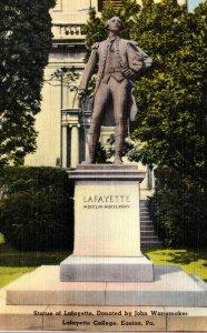 Pennsylvania Easton Lafayette Statue Lafayette College