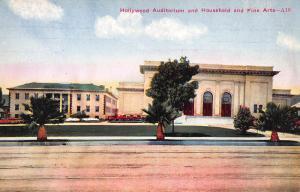 Hollywood Auditorium & Fine Arts, Hollywood, California, Early Postcard, Unused
