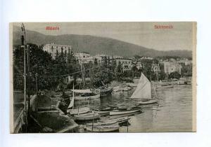 192760 Croatia Opatija ABBAZIA pier Vintage postcard
