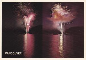 Fireworks , VANCOUVER Sea Festival , B.C. , Canada , PU-1972
