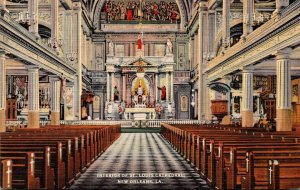Louisiana New Orleans St Louis Cathedral Interior Curteich