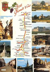 BT6583 En Bourgogne nos grands vins map cartes geographiques         France