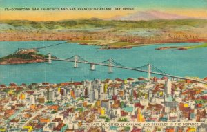 USA Downtown San Francisco and San Francisco Oakland Bay Bridge 04.51