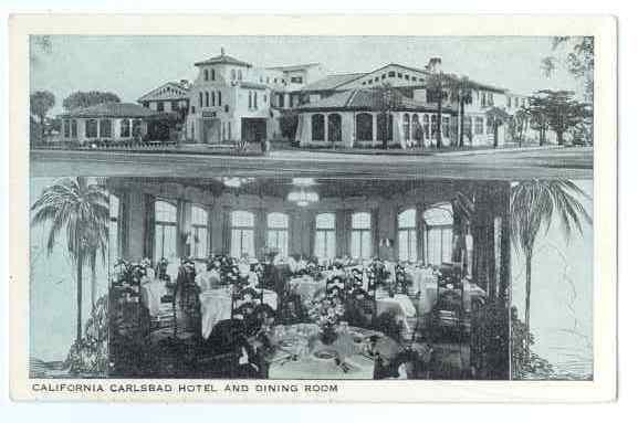California Carlsbad Hotel and Dining Room, Carlsbad CA, White Border