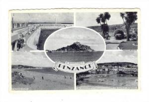 Penzance (also Penzans) , Cornwall, England, PU-1962; 5-view postcard