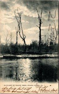 MOONLIGHT ON YELLOW CREEK SCENE NEAR INDIANA PA - TUCK - VINTAGE - Postcard