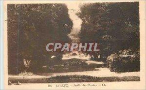 Old Postcard Evreux Jardin des Plantes
