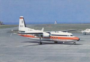 Jersey European Fokker F-27 on Tarmac