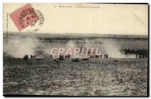 Old Postcard Army Schools has a concealed battery fire (militaria)