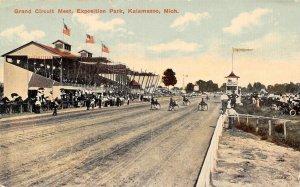Grand Circuit Meet Horse Racing Exposition Park Kalamazoo Michigan 1912 postcard