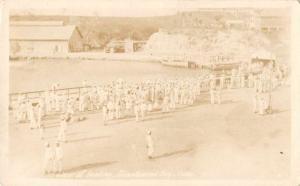 Guantanamo Cuba View of Landing Sailors Military Real Photo Postcard J55374