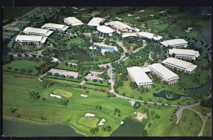 FL Aerial View of the DORAL COUNTRY CLUB and Hotel MIAMI - Chrome 1950s-1970s
