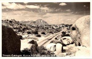 Arizona Texas Canyon Rock Formations On The Wilcox-Benson Highway Real Photo