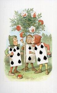 Pack Of Playing Cards Rose Garden Alice In Wonderland 1927 Book Postcard