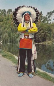Chief Red Feather , Navajo-Sioux Indian , Knotts Berry Farm , California , 40...