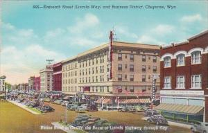 Sixteenth Street Lincoln Way and Business District Cheyenne Wyoming