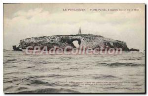 Old Postcard Pouliguen Pierre Percee four miles from the coast