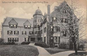 South Hadley Massachusetts Mount Holyoke College Safford Antique Postcard K12803