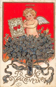 G20/ Valentine's Day Love Holiday Postcard c1910 Cupid Gold-Lined 14