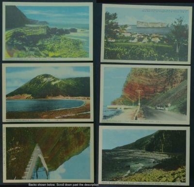 Gaspé Quebec lot of 6 PCs scenes PECO 1950s