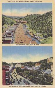 This View Of 1875 Hot Springs And To Day Hot Springs National Park Arkansas