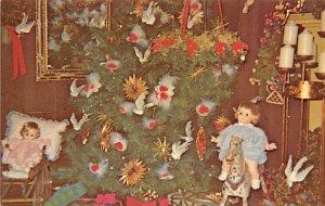 Christmas Trees Post Card Christmas Dove Rockport, Massachusetts, USA Unused