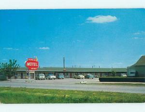 Unused 1950's OLD CARS & SLUMBER INN MOTEL Markle Indiana IN s6330