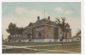 High School Columbus Nebraska 1910c postcard
