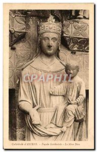 Old Postcard of Cathedral Facade Cathedral & # 39Amiens the Mother God