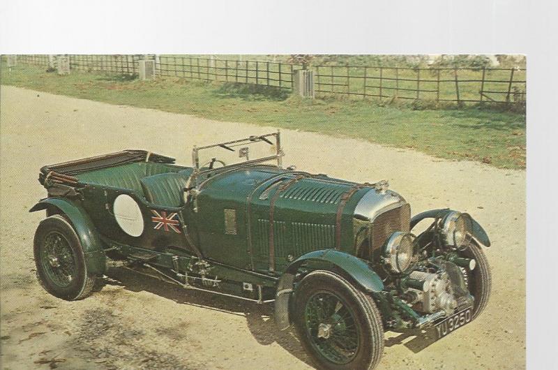 1928 4 1/2 litre Bentley Post Card Montagu Motor Museum