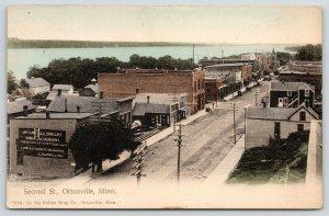 Ortonville MN~2nd Street~Bakery & Restaurant~China Crockery Store~1909 Handcolor