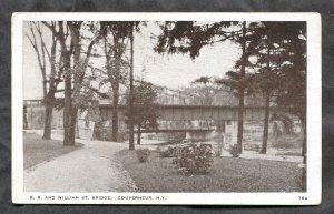 dc1487 - GOUVERNEUR NY 1920s Rail Road and William Street Bridge
