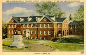 VA - Charlottesville. Confederate Stonewall Jackson Monument, Albemarle County