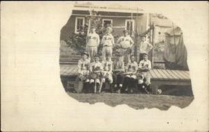 Hundred WV Baseball Team (Hundred WV Written on Back) Real Photo Postcard