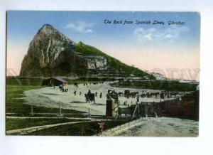 144668 GIBRALTAR Rock from Spanish Lines Vintage postcard
