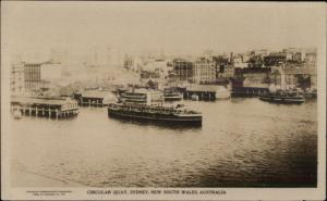 Sydney NSW Circular Quay Ships c1920 Real Photo Postcard