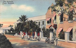 The Inverurie, Paget, Bermuda, Early Linen Postcard, Used in 1947