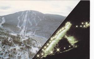 Mount Bromont Ski Slope, Day and Night View, Quebec, Canada 50-70s