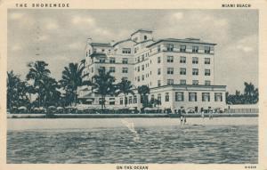 MIAMI BEACH, Florida , 1920-40s ; The SHOREMEDE Hotel