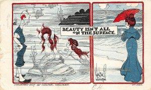 H67/ Interesting Postcard c1910 Columbus Ohio Comic Mermaid Wellman 63