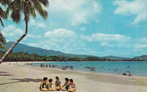 Beach Shore, El Yunque Mountain, LIQUILLO BEACH, Puerto Rico, 40-60's