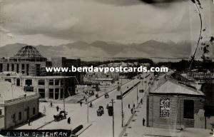 iran persia, TEHRAN TEHERAN, Partial View, Street Scene (1940s) RPPC