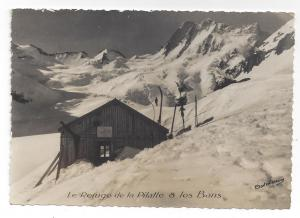 RPPC  France Refuge Pilatte & les Bans ca 1950 Alps Glacier