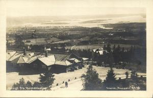 norge norway, KRISTIANIA, Udsigt fra Holmenkollen (1920s) RPPC