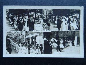 Cornwall HELSTON Furry Dance 4 Image Multiview c1950s RP Postcard