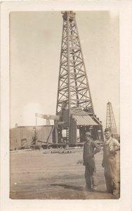 G49/ Interesting RPPC Postcard c10 Oil Well Derrick Overalls Occupational 5