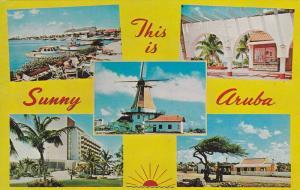 Five-Views, Windmill, Boats, Etc., Sunny Aruba, 1940-1960s