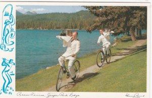 JASPER , Alberta, 50-60s; Jasper Park Lodge Bicycle Room Service